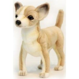 Мягкая игрушка собака Hansa Чихуахуа искусственный мех синтепон белый желтый коричневый 27 см 6295