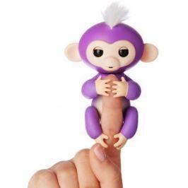 Интерактивная игрушка обезьянка WowWee Fingerlings - Миа пластик фиолетовый 12 см 3704A