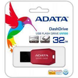 Флешка USB 32Gb A-Data UV100 USB2.0 AUV100-32G-RRD красный