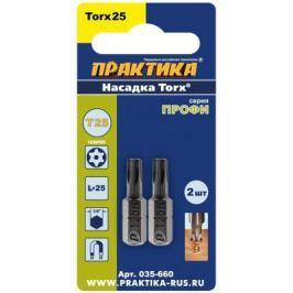 Набор бит Практика T-25 25мм Профи 2шт 035-660