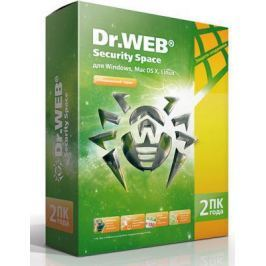 Антивирус DR.Web Security Space на 2 ПК/2 года BHW-B-24M-2-A3 коробка