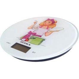 Весы кухонные Supra BSS-4602 белый рисунок