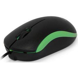 Мышь проводная CBR CM-112 чёрный зелёный USB