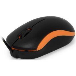 Мышь проводная CBR CM-112 чёрный оранжевый USB