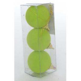 """Набор шаров Winter Wings """"Шары флокированные"""" зеленый 5.5 см 3 шт полимер"""