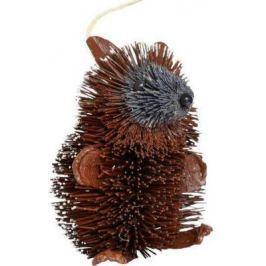 Елочные украшения Winter Wings Ежик коричневый 10 см 1 шт соломка N181398