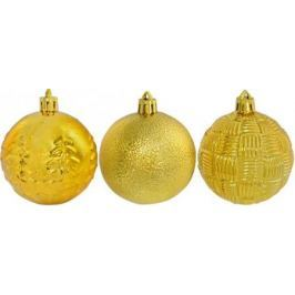 Елочные украшения Winter Wings Шар, блестящий с тиснением золотой 6 см 1 шт N181789G в ассортименте