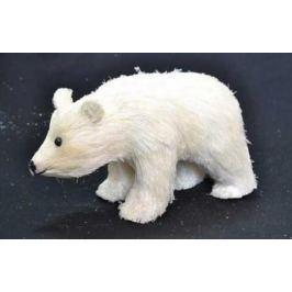 """Елочные украшения Winter Wings """"Медведь, лесная сказка"""" белый 19 см 1 шт полимер"""