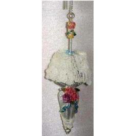 Украшение Winter Wings Дамский зонтик с цветком 11 см 1 шт полирезин N180023