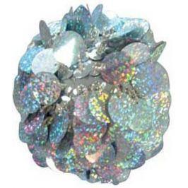 Елочные украшения Winter Wings Шар с лепестками серебро 8 см 1 шт N06913