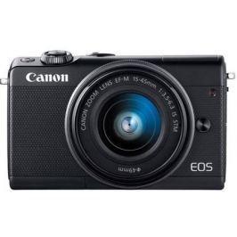 "Фотоаппарат Canon EOS M100 18Mpix 3"" 1080p WiFi 15-45 IS STM LP-E12 черный 2209C012"