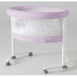 Колыбель с деревянной подставкой c LED системой Micuna Smart Fresh (pet pink/white)