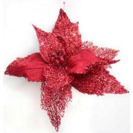 Украшение Winter Wings Цветок с клипом красный 22 см 1 шт полиэстер N069864/КР