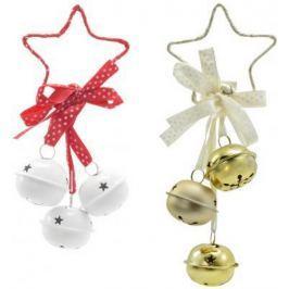 Елочные украшения Winter Wings Звезда с бубенчиками в ассортименте 4 см 1 шт металл