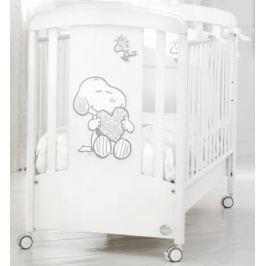 Кроватка Baby Expert Snoopy (белый/серебро)