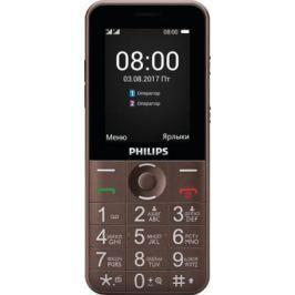 Телефон Philips Xenium E331 коричневый (8712581747633)