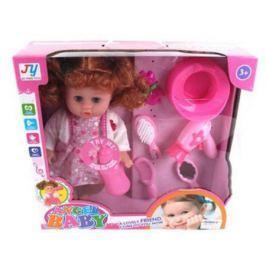 Кукла 35 см с аксесс. 6 предм., звук, батар.в компл.вх., кор.