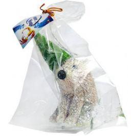 Украшение Winter Wings Мишка в карнавальной шляпе коричневый 13 см 1 шт соломка N181431