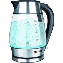 Чайник Vitek VT-7037 TR 2200 Вт прозрачный серебристый 1.7 л стекло