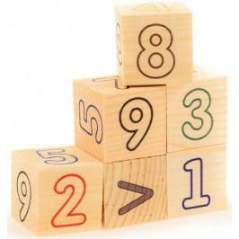 Кубики Русские деревянные игрушки Цифры и счет от 3 лет 6 шт Д490а