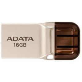 Флешка USB 16Gb A-Data UC360 USB 3.1/MicroUSB AUC360-16G-RGD золотистый