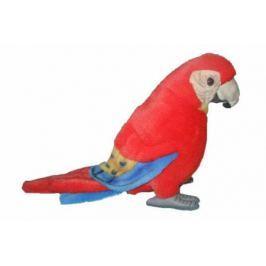 Мягкая игрушка попугай Hansa Ара искусственный мех синтепон красный 20 см 3741