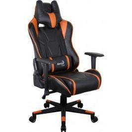Кресло компьютерное игровое Aerocool AC220 AIR-BO черно-оранжевое с перфорацией 4713105968408