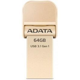 Флешка USB 64Gb A-Data i-Memory AI920 USB 3.1/Lightning AAI920-64G-CGD золотистый