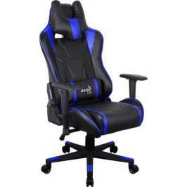 Кресло компьютерное игровое Aerocool AC220 AIR-BB черно-синее с перфорацией 4713105968392