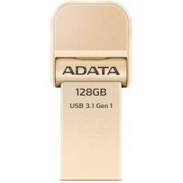 Флешка USB 128Gb A-Data AI920 USB 3.1/Lightning AAI920-128G-CGD золотистый