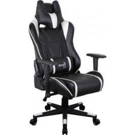 Кресло компьютерное игровое Aerocool AC220 AIR-BW черно-белое с перфорацией 4713105968422