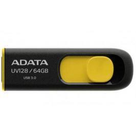 Флешка USB 64Gb A-Data UV128 USB3.0 AUV128-64G-RBY черный/желтый