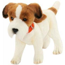 """Мягкая игрушка собака Hansa """"Джек Рассел терьер"""" текстиль плюш белый коричневый 31 см 5901"""