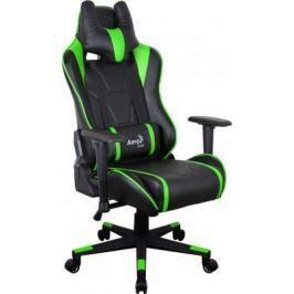 Кресло компьютерное игровое Aerocool AC220 AIR-BG черно-зеленое с перфорацией 4713105968415
