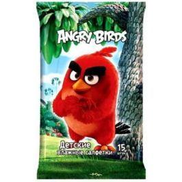 Салфетки влажные Angry Birds Movie №15 не содержит спирта 15 шт в ассортименте