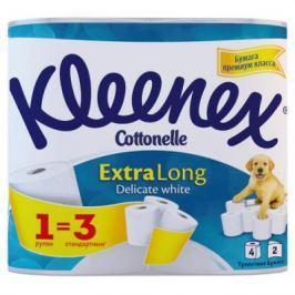 Бумага туалетная Kleenex Extra Long растворяются в воде 2-ух слойная 4 шт 9450045