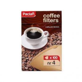 PACLAN Фильтры д/кофеварок 100 шт. небеленые р-р 4