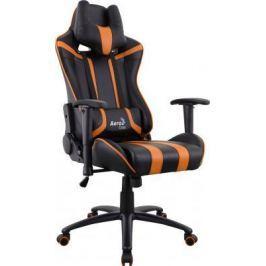 Кресло компьютерное игровое Aerocool AC120 AIR-BO черно-оранжевое с перфорацией 4713105968330