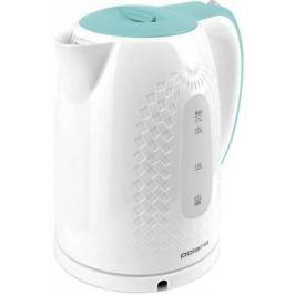 Чайник Polaris PWK 1713C 2200 Вт белый бирюзовый 1.7 л пластик