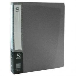 Папка с 60 файлами, форзац, ф.А4, серая SDB60/GR