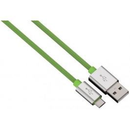 Кабель microUSB 1м HAMA Color Line круглый зеленый 00080514