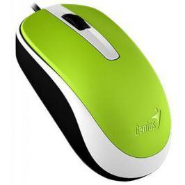 Мышь проводная Genius DX-120 зелёный USB