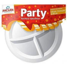 PACLAN Party Тарелка из полистирола 3-х секционная 260мм 6шт