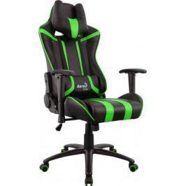 Кресло компьютерное игровое Aerocool AC120 AIR-BG черно-зеленое с перфорацией 4713105968347