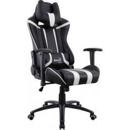 Кресло компьютерное игровое Aerocool AC120 AIR-BW черно-белое с перфорацией 4713105968354