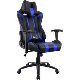 Кресло компьютерное игровое Aerocool AC120 AIR-BB черно-синее с перфорацией 4713105968323
