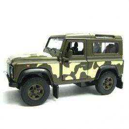 Джип Welly Land Rover Defender 1:34-39 хаки 42392CM