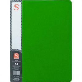 Папка с 20 файлами, форзац, ф.А4, зеленая SDB20/GN