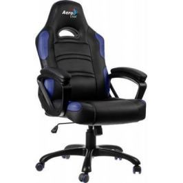 Кресло компьютерное игровое Aerocool AC80C AIR-BB черно-синий с перфорацией