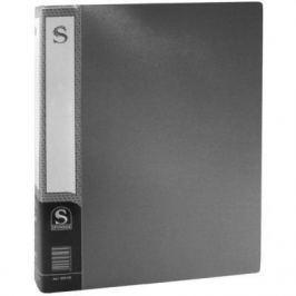 Папка с 100 файлами, форзац, ф.А4, серая SDB100/GR